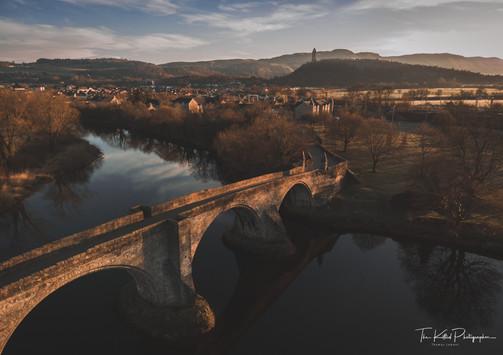 Sunrise Over Stirling Old Bridge