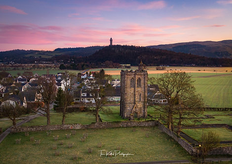 Cambuskenneth Abbey with the Wallace Monument