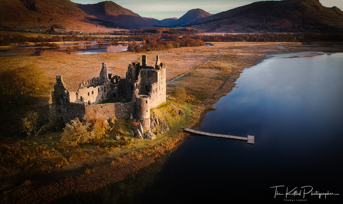 Kilchurn Castle from the Air