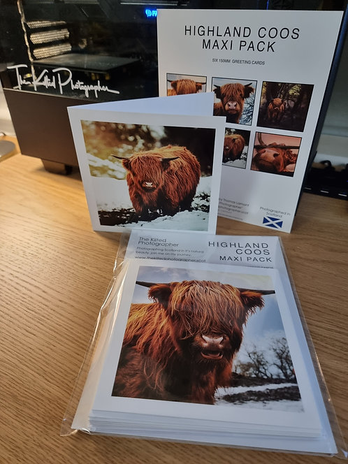 Highland Coo Greeting Cards