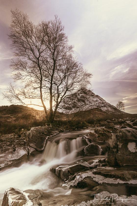 Waterfall at Buachaille Etive Mòr