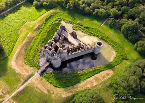 Caerlaverock Castle from the Air