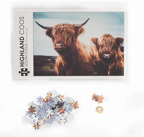 Highland Coo Jigsaw - 1000 piece