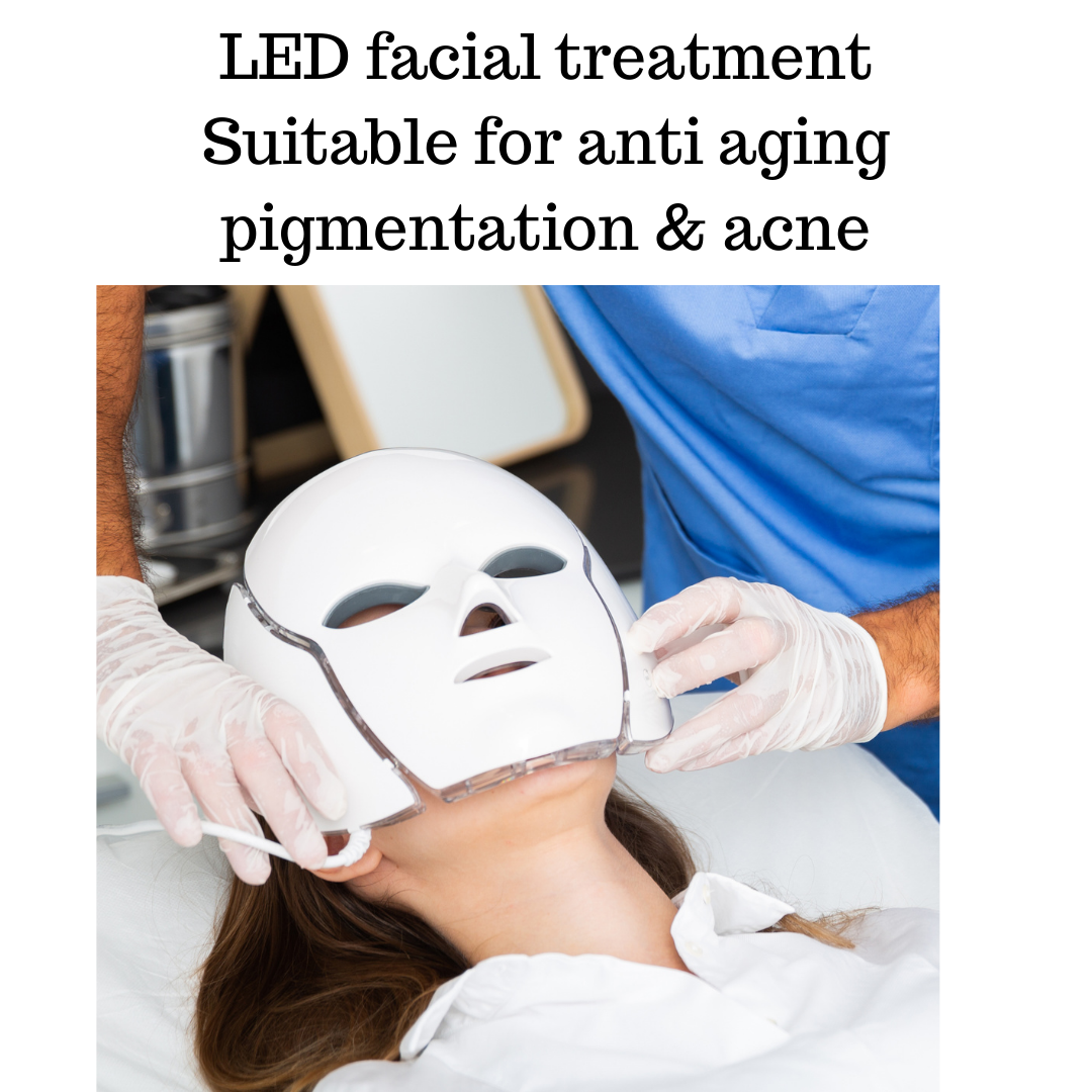 LED Facial treatment microdermabrasion