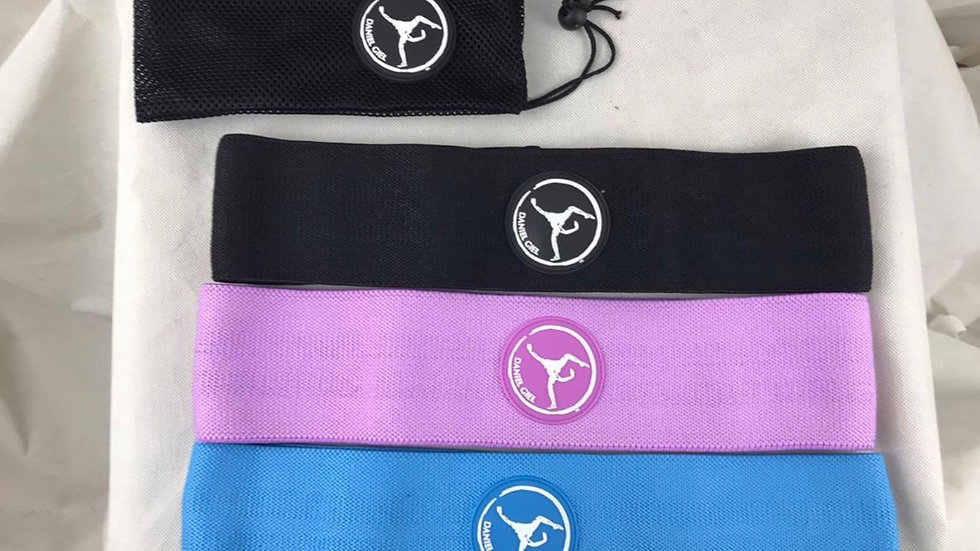 Loop Band Set of 3 (Light, Medium and Heavy) with Mesh Carry Pouch