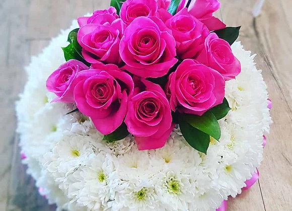 Pink Rose Posy Pad