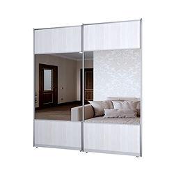 2.4.1 Две двери комбинированные ЛДСП Бодега светлая и зеркало серебро.jpg
