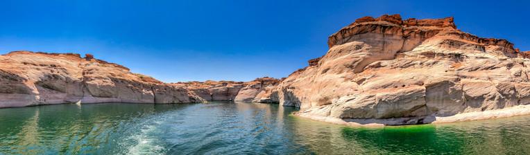 Antelope Creek and beautiful canyon colors along Lake Powell, Arizona