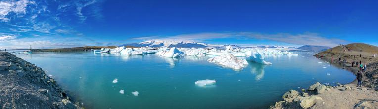 Jokulsarlon Icebergs along the Lake, Iceland
