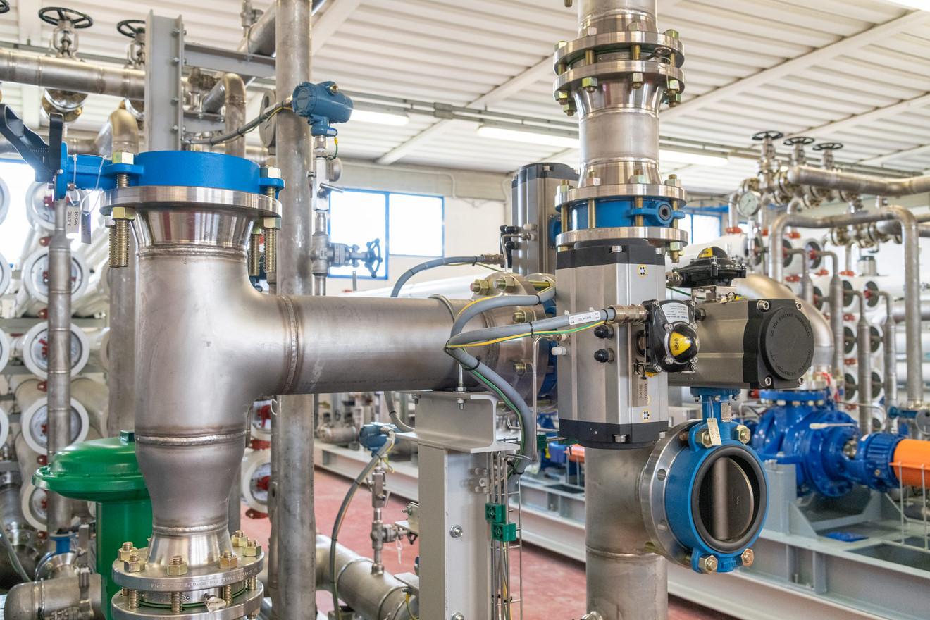Water purification plant warehouse