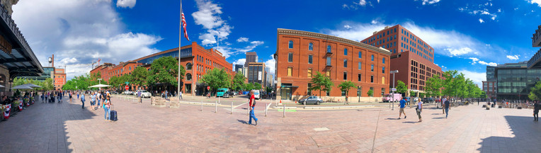 Denver streets along the main train station, Colorado