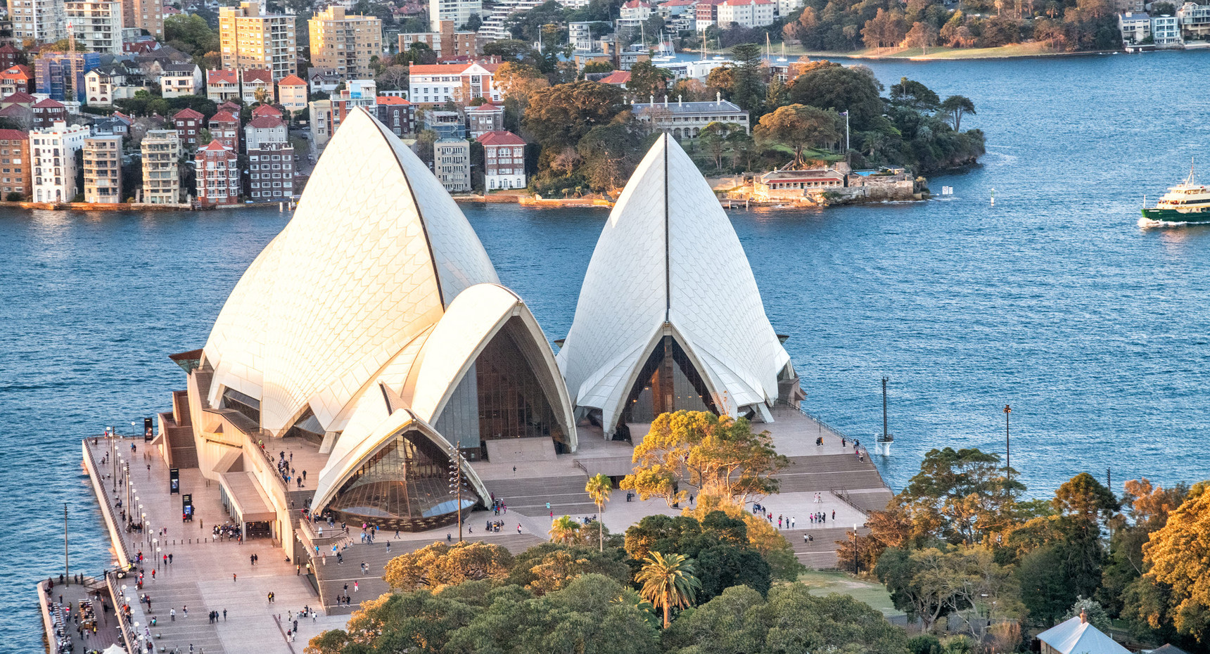 Aerial view of Opera House