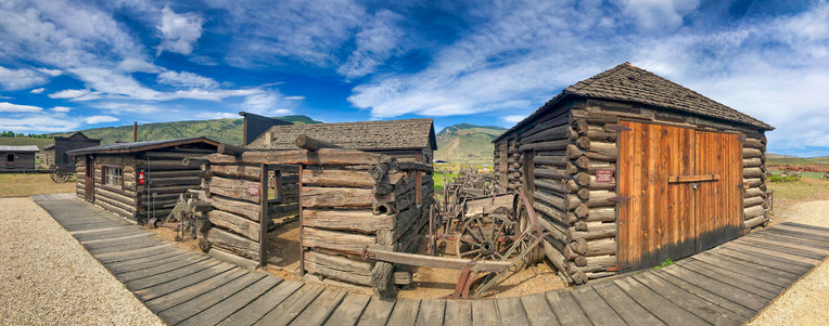 Wooden Barracks of Old Wild West, Cody, Wyoming