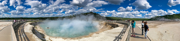 Geysers and Pools of Yellowstone National Park, Wyoming