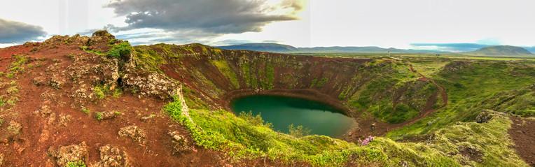 Kerio Crater in summer season, Iceland