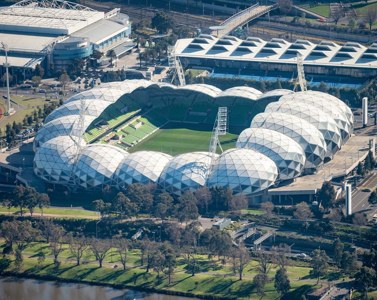 Aerial view of Melbourne Stadium