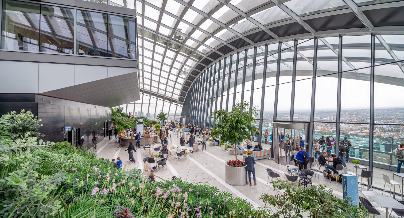 Sky garden interior