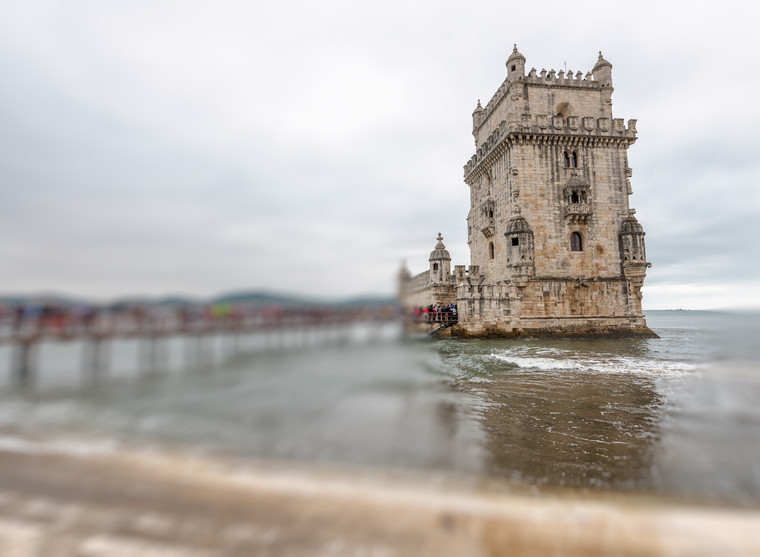 Belem Tower on a cloudy day
