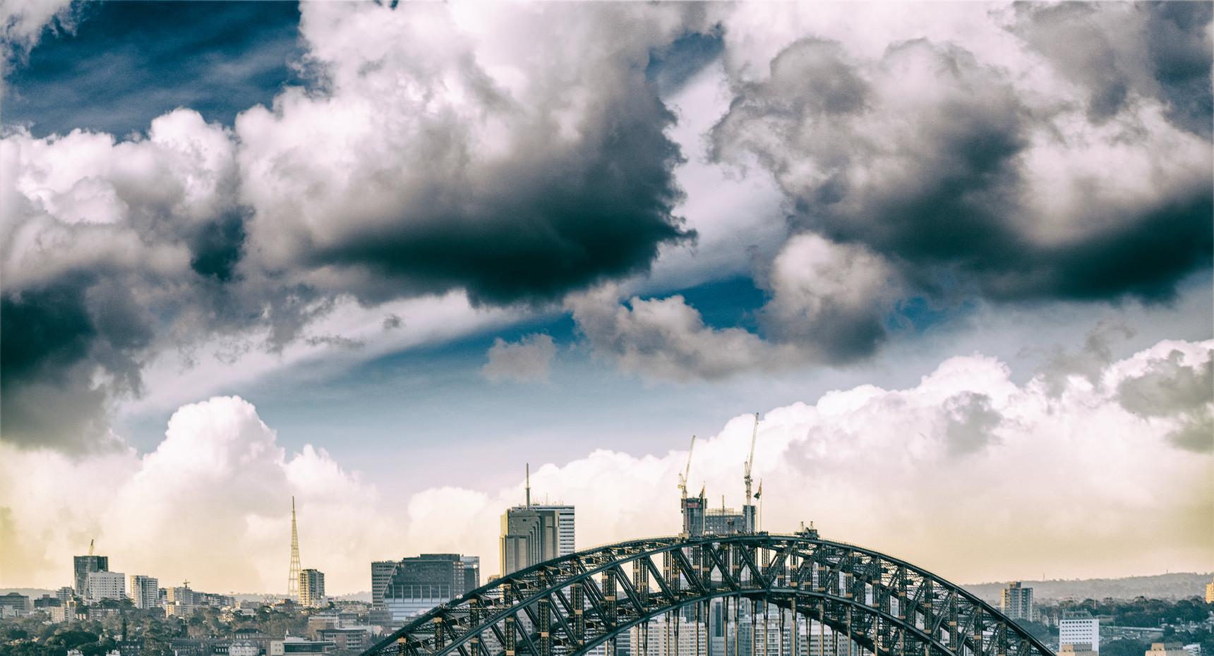 Aerial view of Sydney Harbor Bridge