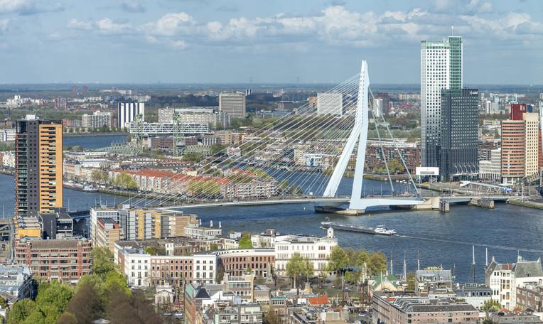 Rotterdam aerial skyline, The Netherlands