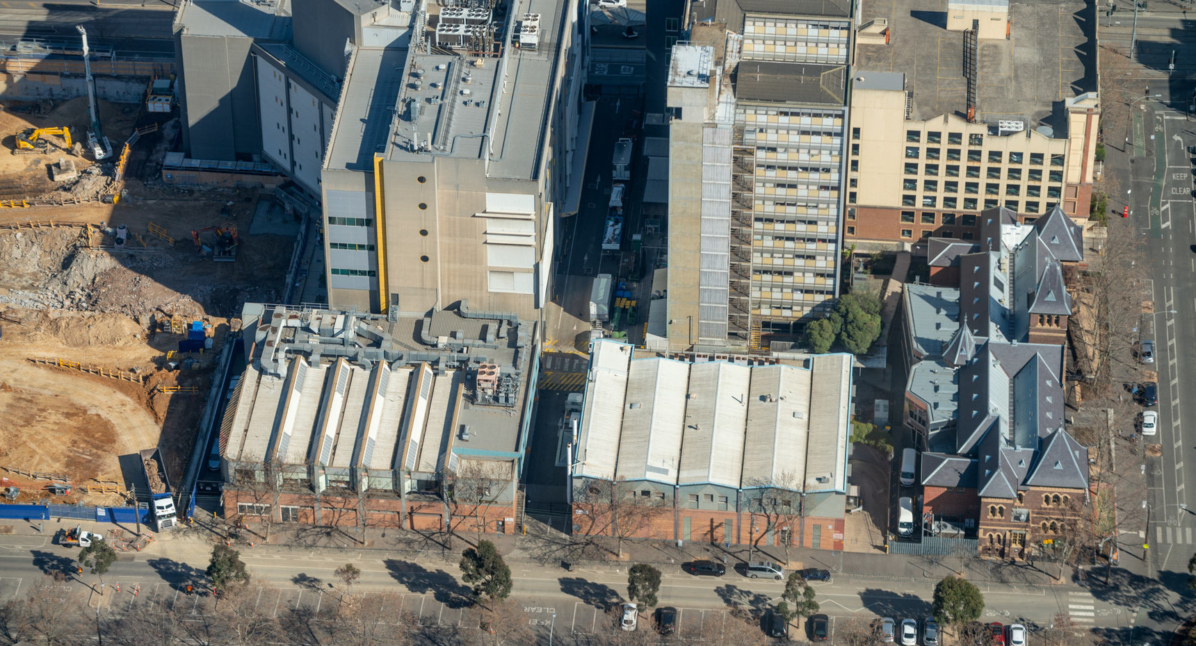 Aerial view of Melbourne outskirts