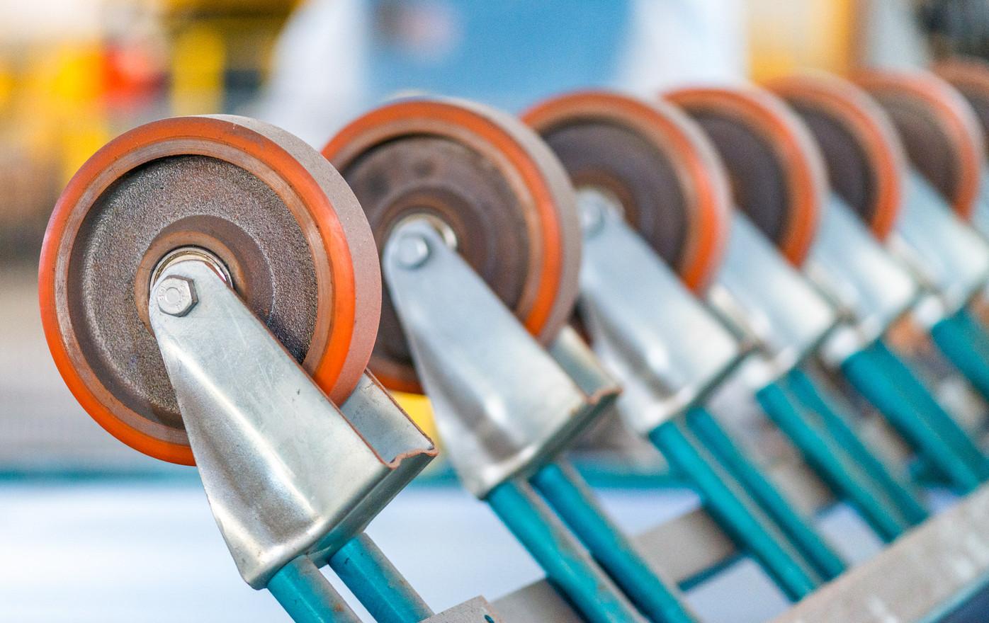 Rotating wheels in industrial environment