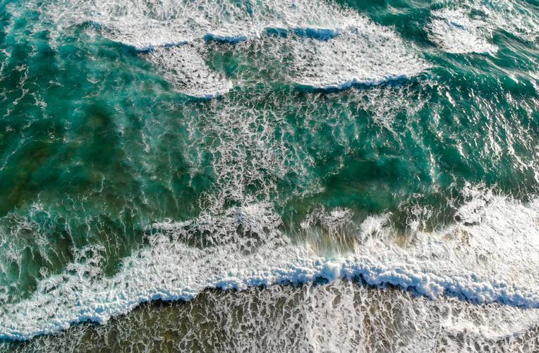 Beach Waves crusing on the Beach