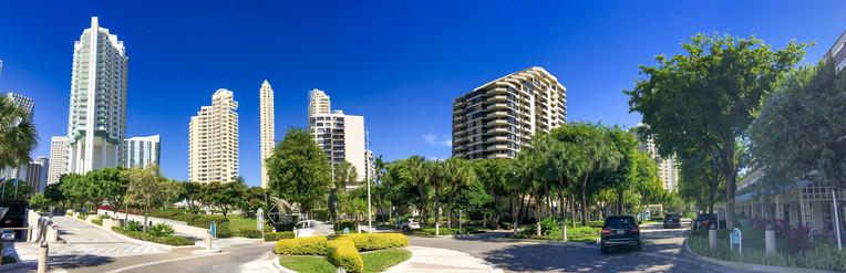 Brickell Key skyline, Miami