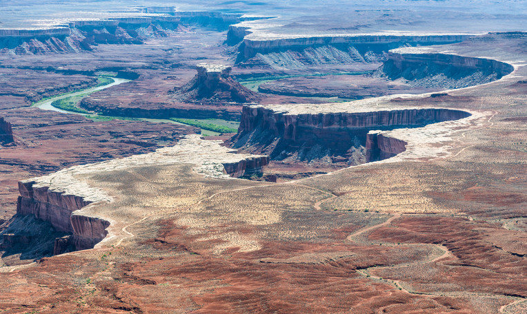Aerial view of Grand Canyon and Colorado River, USA