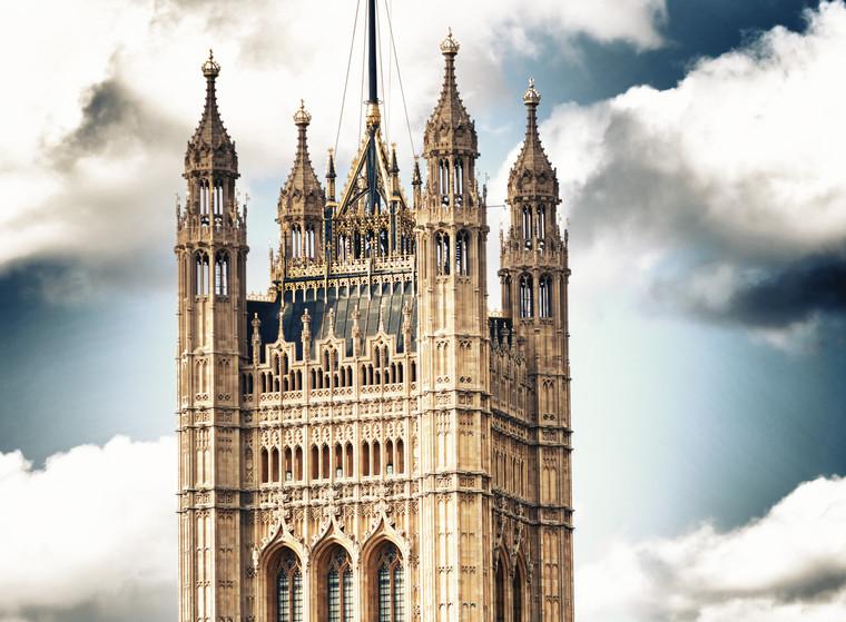 English flag on top of Big Ben