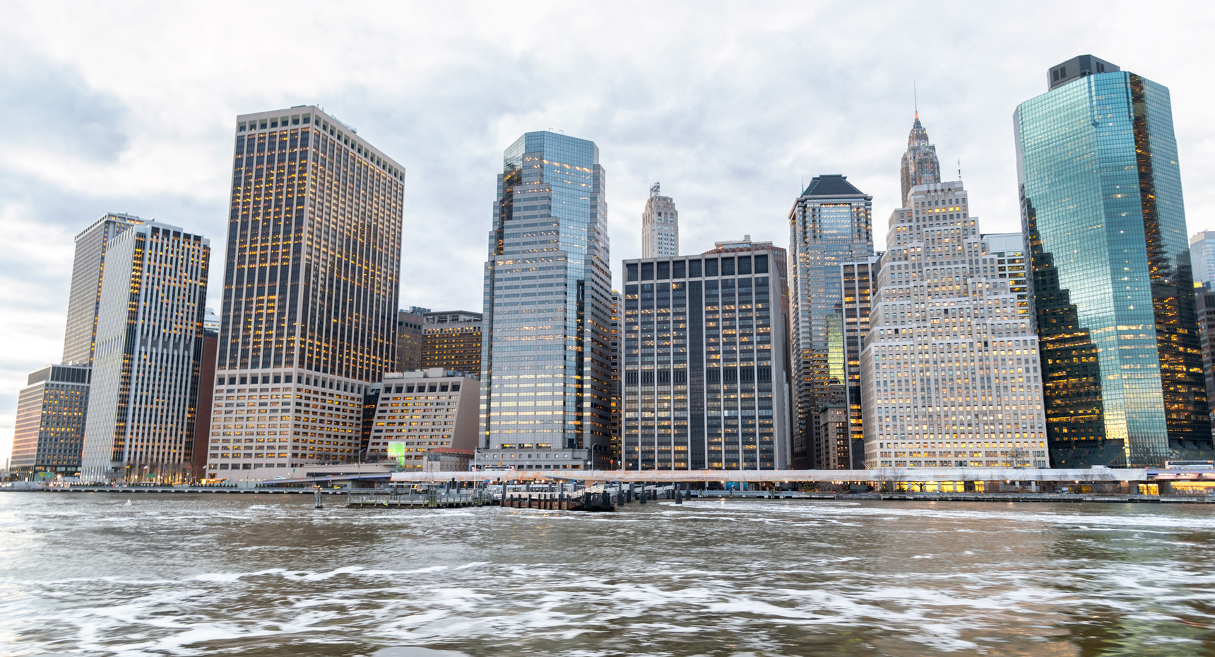 Buildings of Manhattan from East River
