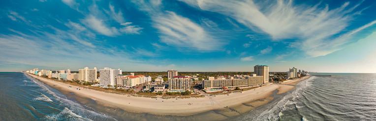 Myrtle Beach skyline on a sunny day, South Carolina