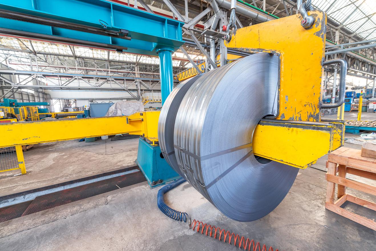 Metal coils cutter machine