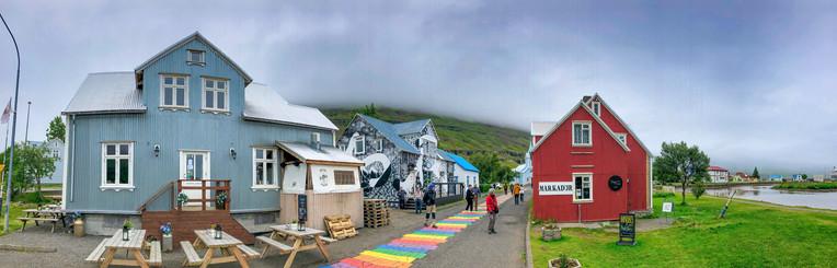 Seydisfjordur colorful homes, Iceland