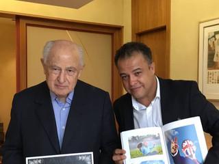 Lazaro Brandão (Presidente do Conselho Administrativo do Bradesco) e Claudio Gatti.