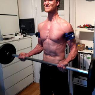 Mit wenig Gewicht zu viel Muskelmasse