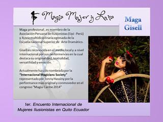 Las Mujeres Magas  Ilusionistas Invitadas de del 1er Encuentro Magia Mujer y Luna