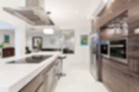 glossy wood Custom kitchen cabinets - kitchen remodeling - toronto