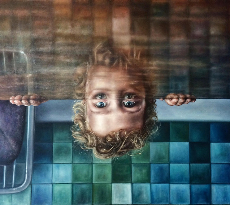 Parallel Worlds by Julian Clavijo Oil on Canvas 110 x 123 cm 2015 - 2016