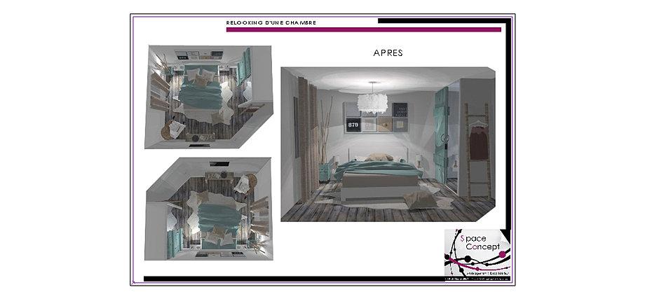 d coration int rieure space concept chambre 85 vend e les herbiers. Black Bedroom Furniture Sets. Home Design Ideas