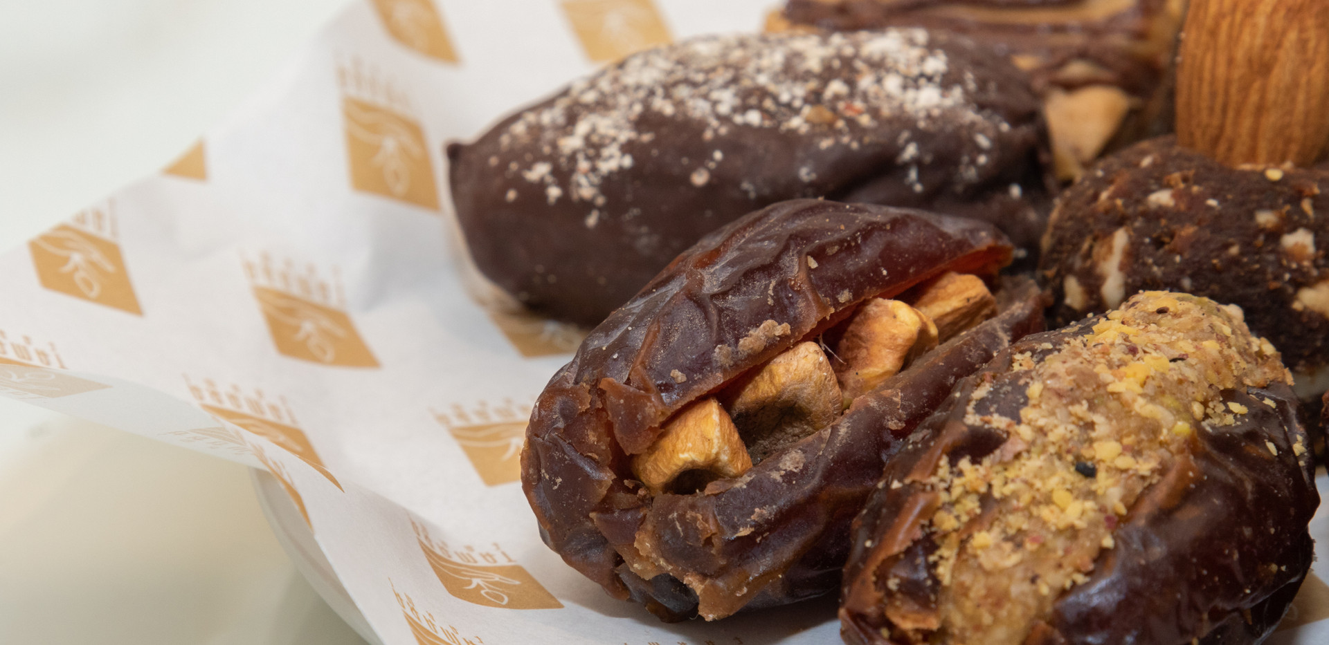 stuffed dates with almonds and pistachios