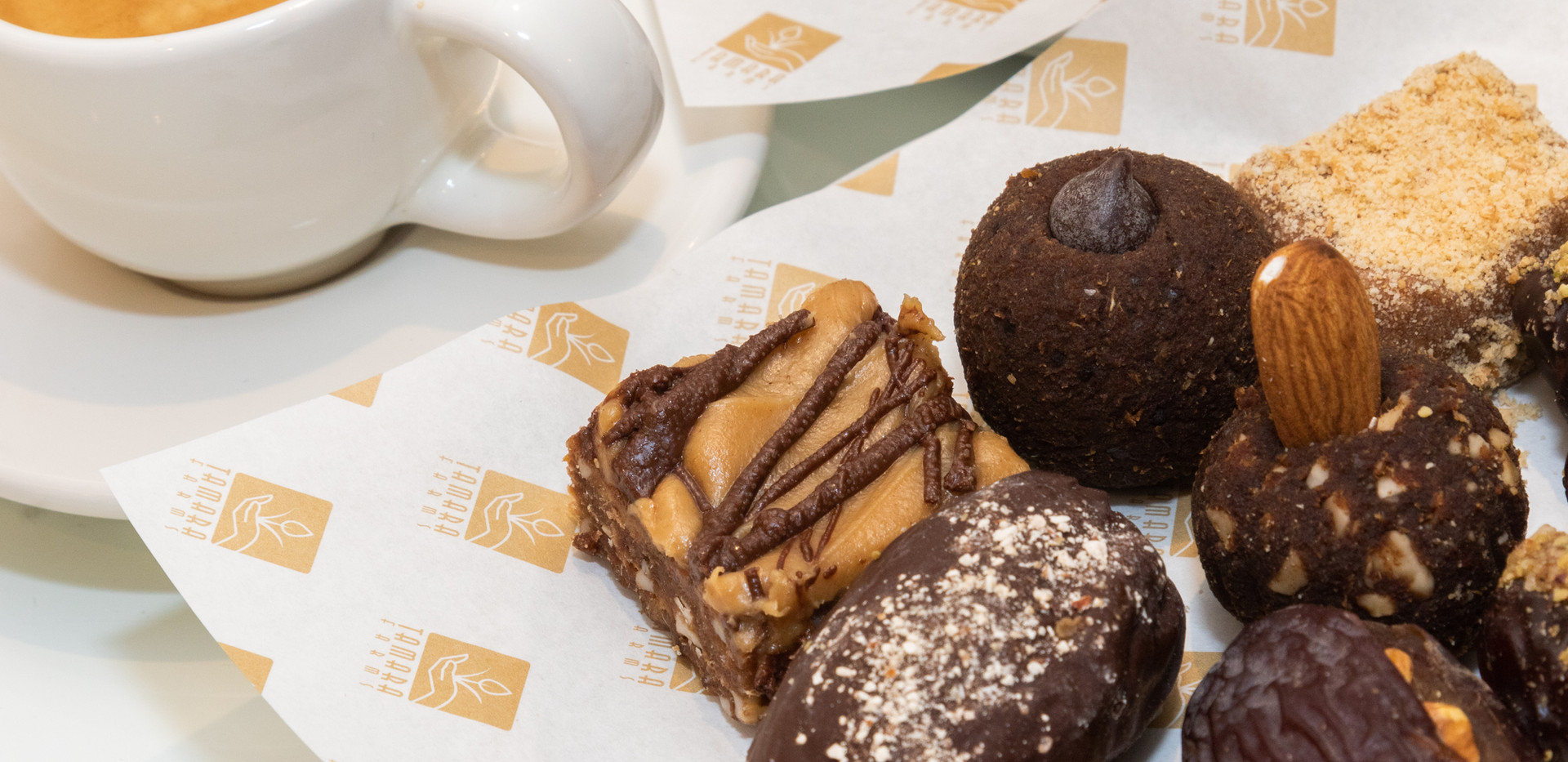 Dates sweets with coffee