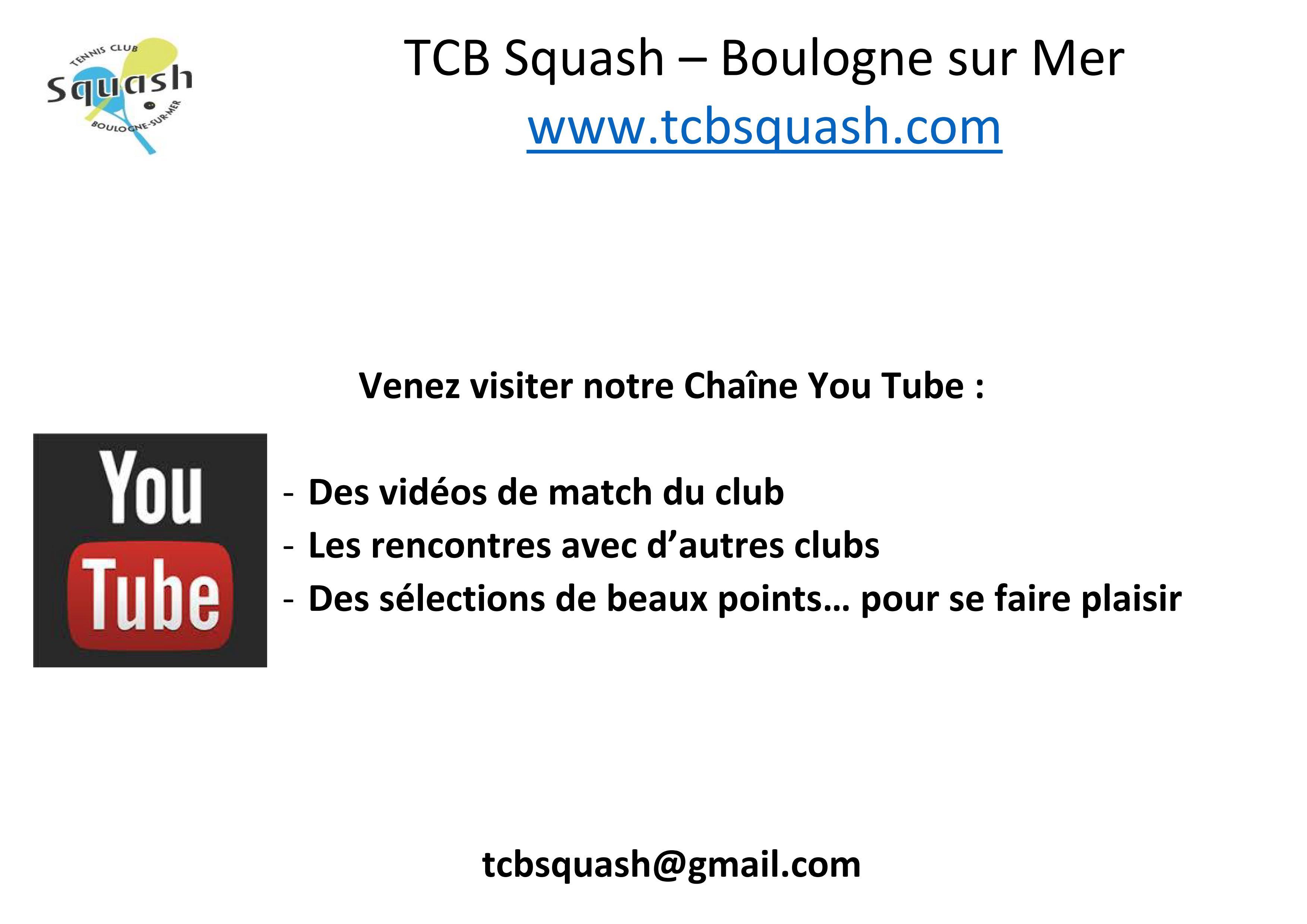 Notre Chaîne You Tube!