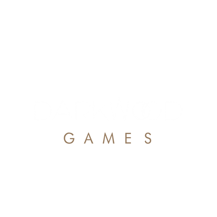 Darkwood Studios Logo (white text only).