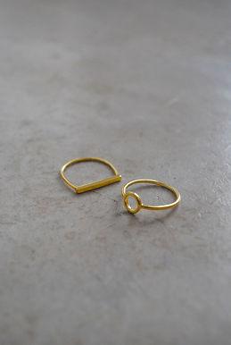 anillos plata chapados en oro