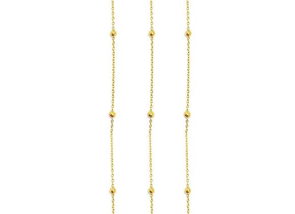 Cadena Extra Bolitas Oro