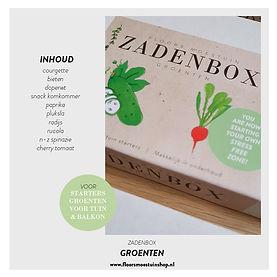 Promotie plaatjes - Zadenbox groenten -