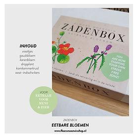 Promotie plaatjes - Zadenbox eetbare blo