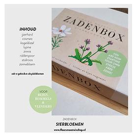 Promotie plaatjes - Zadenbox sierbloemen