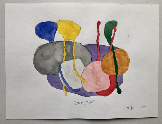 "Study #18b 2020, 16""x 12"" watercolour on paper"